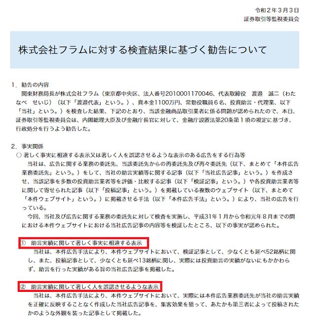 TMJ投資顧問 行政処分内容