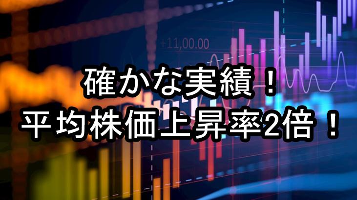 株情報サイト マネージャーの実績